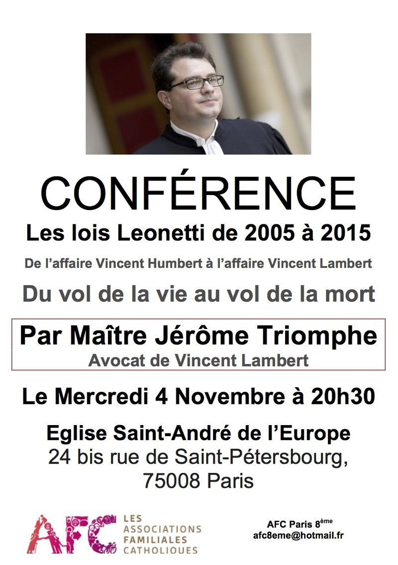 CONFERENCE-JEROME TRIOMPHE