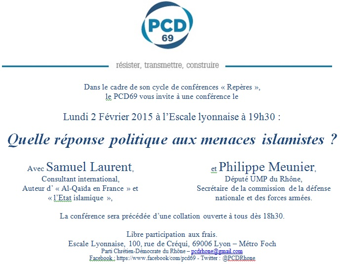 Conference PCD69-Menaces islamistes