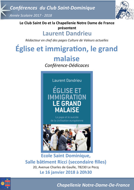 Affiche Eglise et Immigration